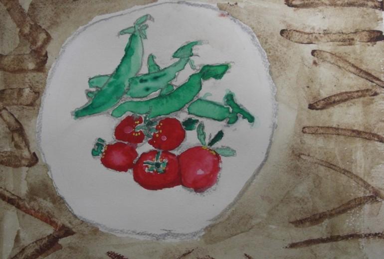 スナップエンドウ&ミニトマト