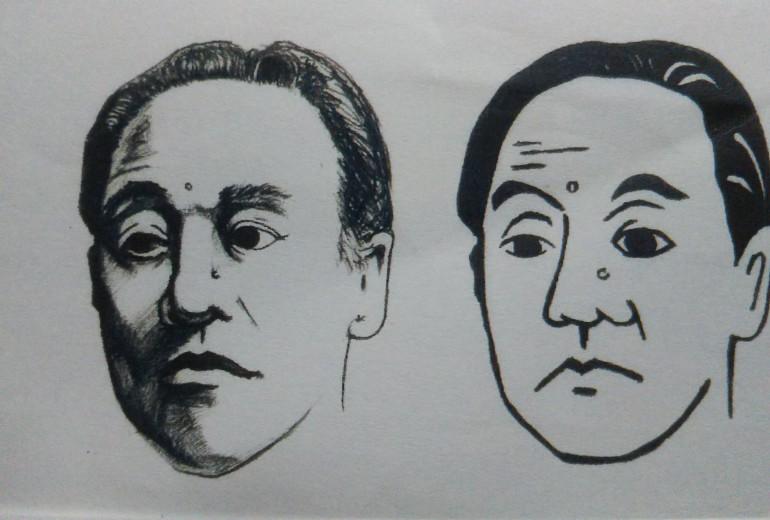 福沢諭吉の顔(デッサンとデファルメ)