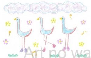 3羽のハッピーな鳥たち - asami