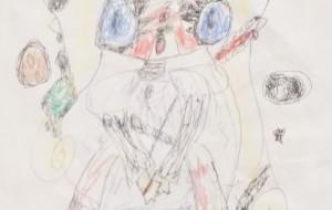 NO31 サイボーグガール 全体像_木村優花 - 第3回鶴ヶ島市立中央図書館 「障がい者アート絵画展」2019