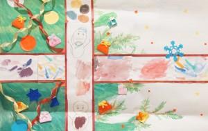 NO67 メリークリスマス_はぴねすくらぶ鶴ヶ島 - 第3回鶴ヶ島市立中央図書館 「障がい者アート絵画展」2019
