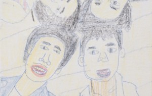 NO49 笑顔_草間雄一 - 第3回鶴ヶ島市立中央図書館 「障がい者アート絵画展」2019