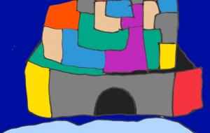 しろの夜 - ワイルドサイレントウルフ