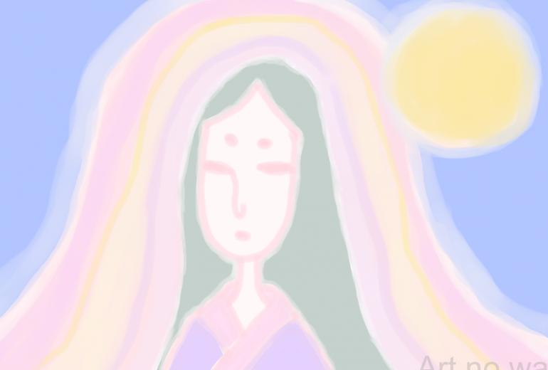 月の記憶に残る美女