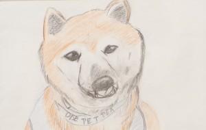 NO68 飼っていた愛犬_米澤望里 - 第3回鶴ヶ島市立中央図書館 「障がい者アート絵画展」2019