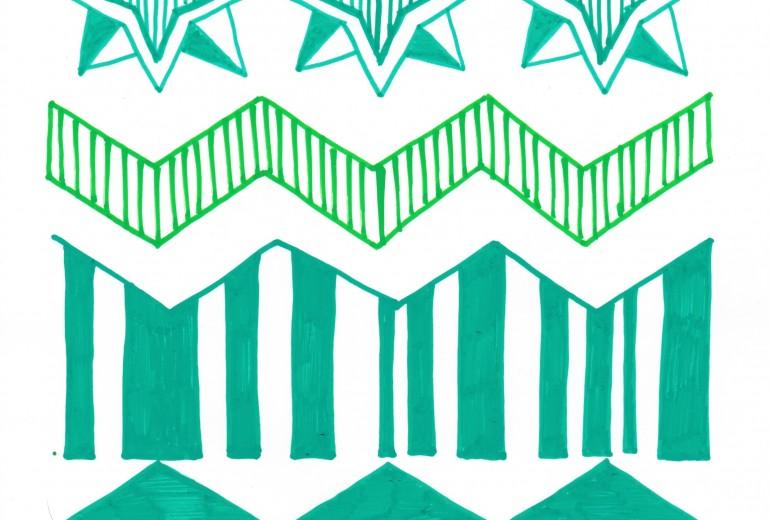 緑のパターン