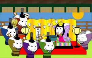 「日本昔話&世界の童話セレクション」3月 桃の節句の月夜の逢引~かぐや姫~ - 子猫
