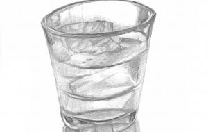 スケッチ 氷水入りグラス - 中澤悠樹