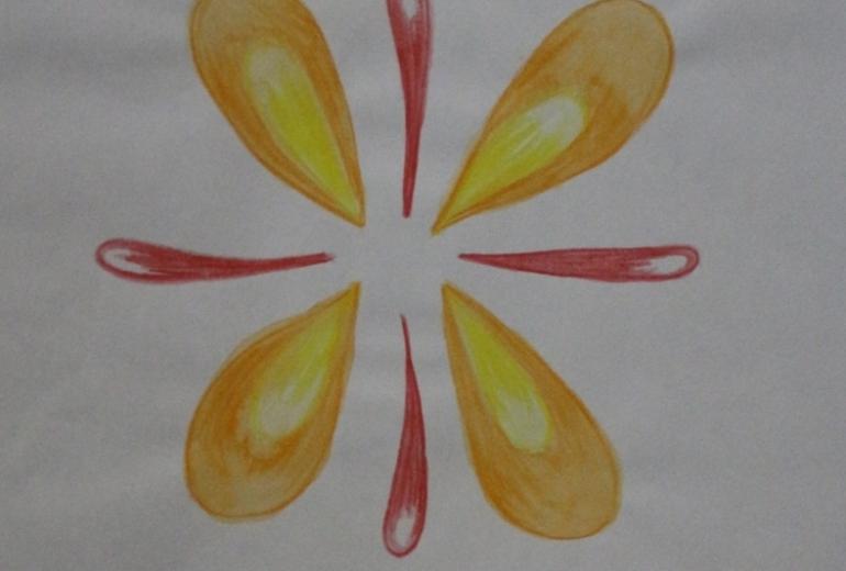 暖色系の花