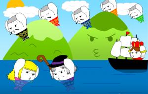 「日本昔話&世界の童話セレクション」5月 初夏の空と海とコマリマ~人魚姫~ - 子猫