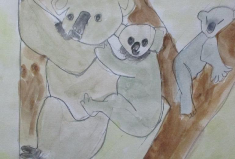 親子のコアラ