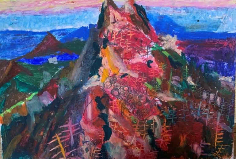 仏陀の霊峰石鎚山の観世音菩薩の御影