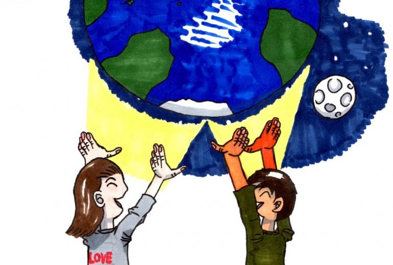 地球と子ども