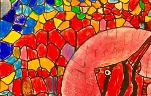 青と赤の中の熱帯魚 - MASA