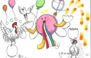 14-Takeshi–タマゴ天使のマジック - 鶴ヶ島市立中央図書館 「障がい者アート絵画展」