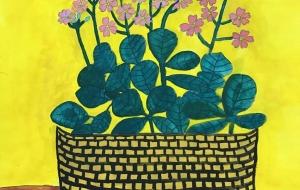 鉢植えの花(仮) - (公財)日本チャリティ協会:パラアートスクール