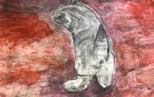 ネコ(仮) - (公財)日本チャリティ協会:パラアートスクール