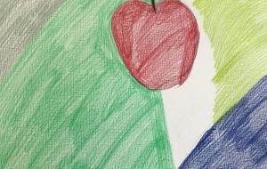りんご(仮) - (公財)日本チャリティ協会:パラアートスクール