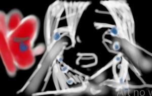 赤い蝶と少女 - 雪野ぴよこ