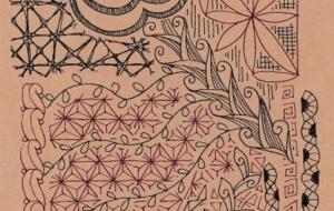 草花のゼンタングル - 虎目梨那