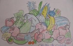 12_ぼくの野菜(伊藤秀明) - 第2回鶴ヶ島市立中央図書館 「障がい者アート絵画展」2018