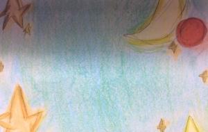 パステル画:背景 - 水樹