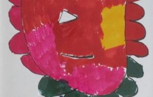 29_ライオン②(間瀬英人) - 第2回鶴ヶ島市立中央図書館 「障がい者アート絵画展」2018