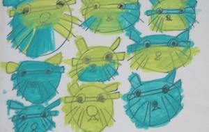 27_ネコ(高橋奈美) - 第2回鶴ヶ島市立中央図書館 「障がい者アート絵画展」2018