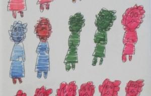 28_ライオン①(間瀬英人) - 第2回鶴ヶ島市立中央図書館 「障がい者アート絵画展」2018