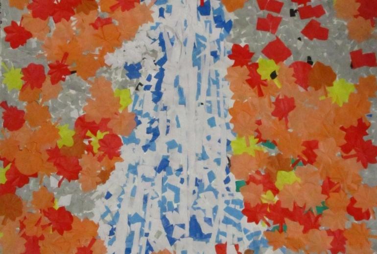 20_滝と紅葉(はぴねすくらぶ鶴ヶ島)