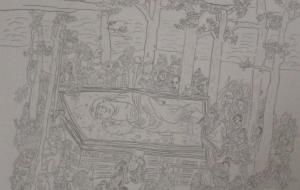 8_涅槃絵(小林皇太) - 第2回鶴ヶ島市立中央図書館 「障がい者アート絵画展」2018