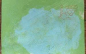 41_手すきハガキ(金子一輝) - 第2回鶴ヶ島市立中央図書館 「障がい者アート絵画展」2018