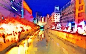 お正月の目黒川 - 相田朋子
