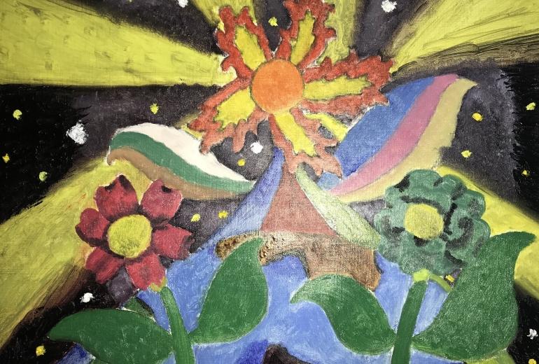 地球に咲くサンフラワー