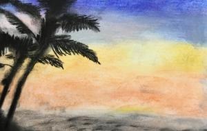 ハワイの夕日 - くみぱんつ