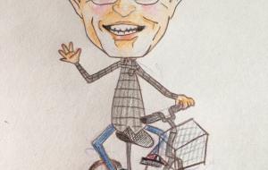 自転車おじいちゃん - えり