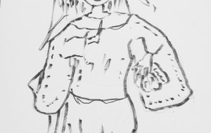 巫女っぽいの - ワイルドサイレントウルフ