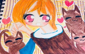 猫と女の子 - 水樹