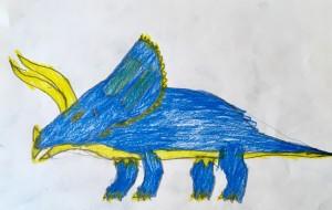 恐竜シリーズ(青トリケラトプス) - ゆうき