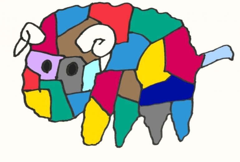 ワイルドカラー羊