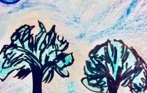夜の自然風景 - 水樹