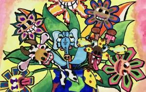 地球の壺に咲く色んな花 - 近藤健人