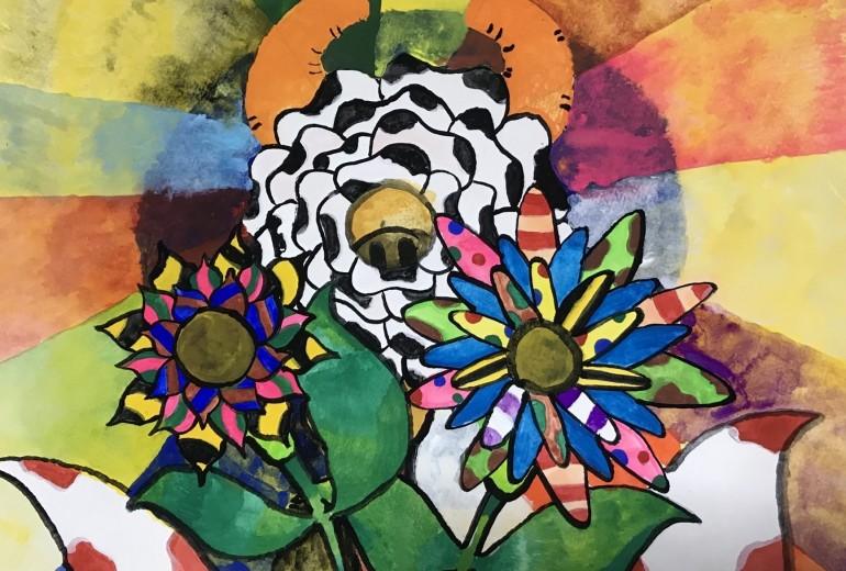 牛の花と色んな花