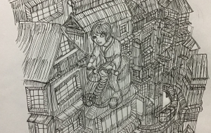 都市 - グレー