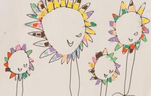 NO51 ひまわり_内野智恵美 - 第3回鶴ヶ島市立中央図書館 「障がい者アート絵画展」2019