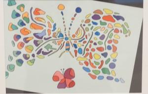 NO70 蝶_大山克幸 - 第3回鶴ヶ島市立中央図書館 「障がい者アート絵画展」2019