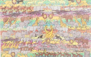 NO2 ズーサファリー_石井章 - 第3回鶴ヶ島市立中央図書館 「障がい者アート絵画展」2019