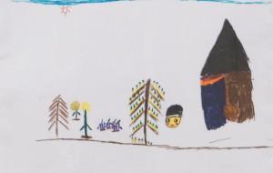 NO32 毛呂山五大寺の風景_鷺谷瞳 - 第3回鶴ヶ島市立中央図書館 「障がい者アート絵画展」2019