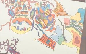 NO70 魚_大山克幸 - 第3回鶴ヶ島市立中央図書館 「障がい者アート絵画展」2019