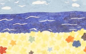 NO77 潮香る花畑_熊本壮 - 第3回鶴ヶ島市立中央図書館 「障がい者アート絵画展」2019